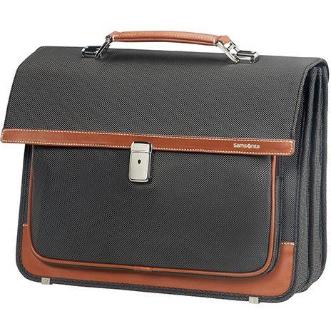 "Samsonite Fairbrook Briefcase 2 Fäacher 39.6 cm 15.6"" - black cognac"