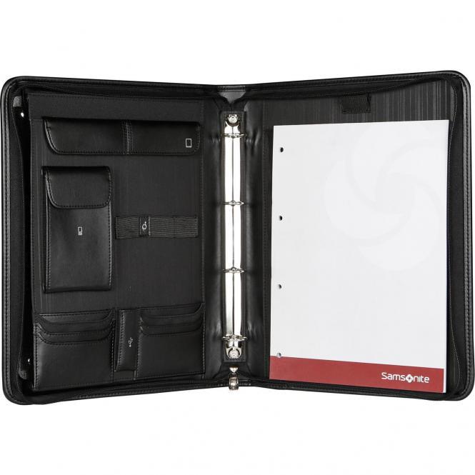 Samsonite Stationery Sidaho Zip Folder A4+Det Binder /  RV-Schreibmappe - black
