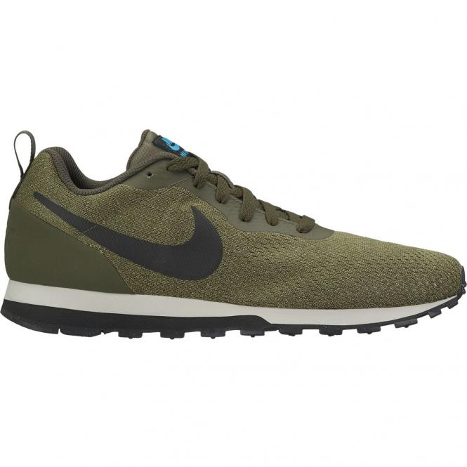 Nike Men MD Runner 2 ENG Mesh Running Schuh 916774 - 44,5  cargo khaki/black lt blue fury