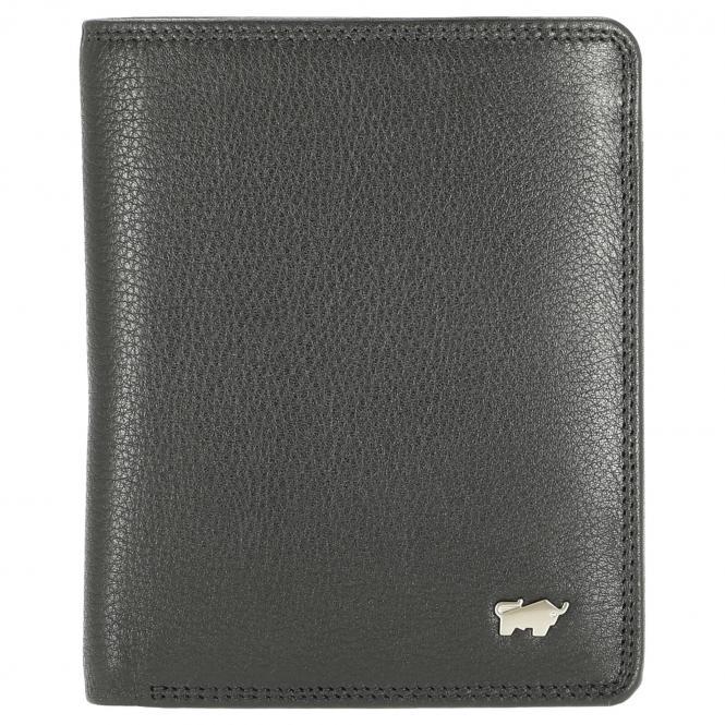 Braun Büffel Golf Herrengeldbörse Hochformat 12.5 cm - schwarz