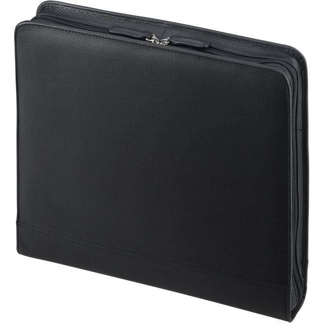 D&N Easy Business Schreibmappe mit herausnehmbarer Ringmechanik 34 cm - schwarz