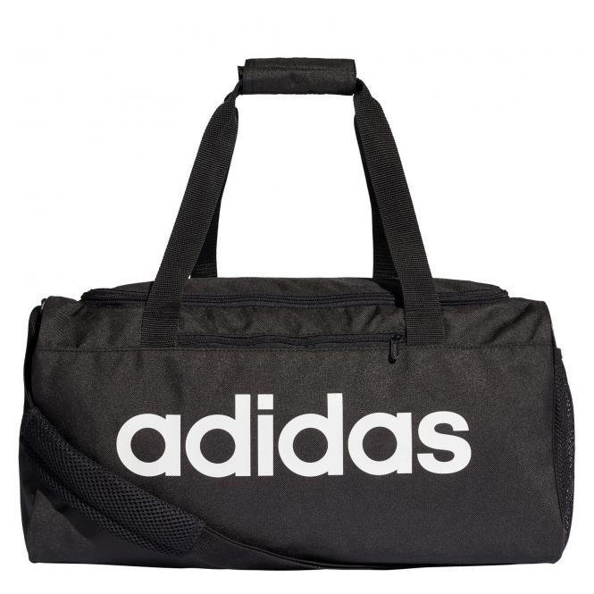 adidas CORE Linear Duffel 46 cm S - black/black/white