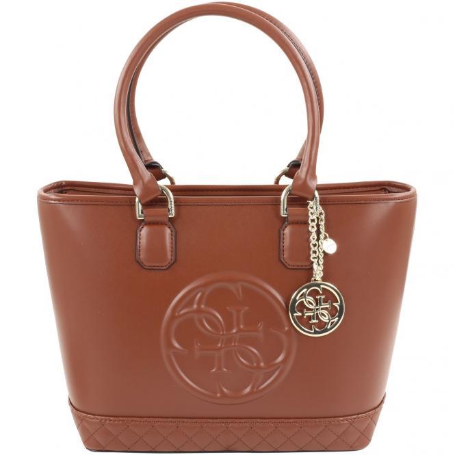 Guess Amy Small Tote Handbag 28,5 cm - cognac