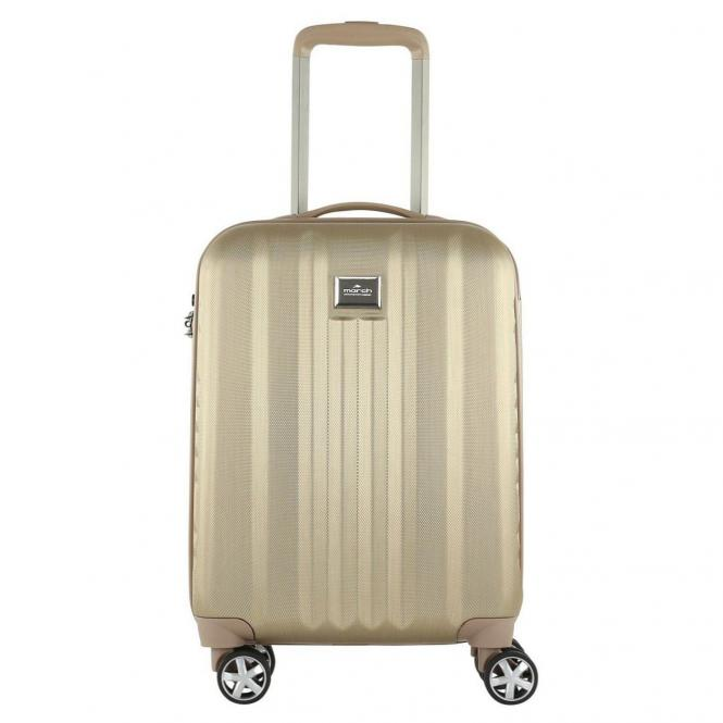 March 15 Yearz-Fly 4-Rollen-Kabinentrolley S 55 cm - gold brushed