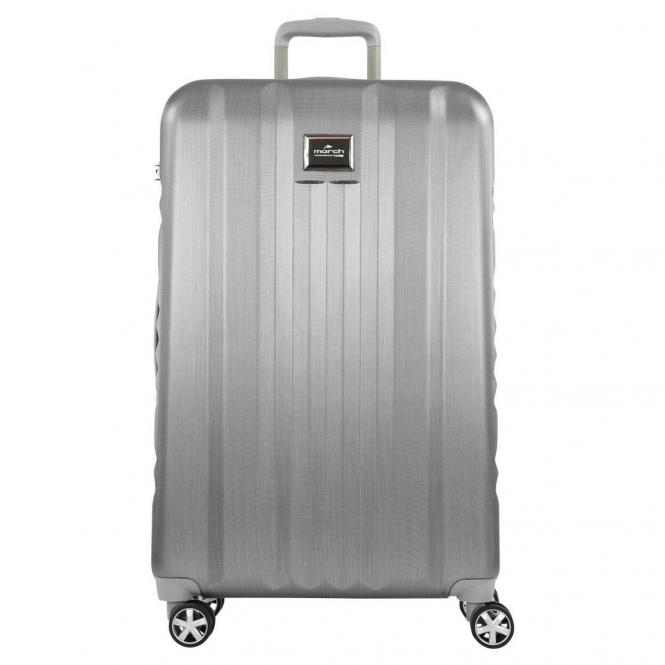 March 15 Yearz-Fly 4-Rollen-Trolley L 75 cm - silver brushed