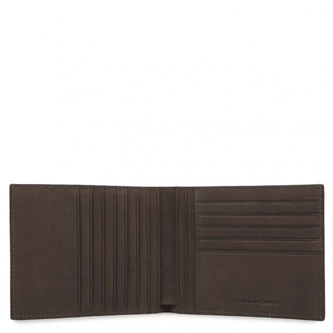 Piquadro Black Square Herrengeldbörse mit 12 Kreditkartenfächern 12 cm - Piquadro Black Square Herrengeldbörse mit 12 Kr