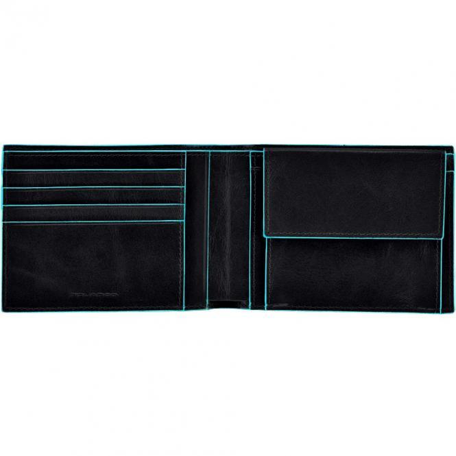 Piquadro Blue Square Herrengeldbörse 9 cm - black