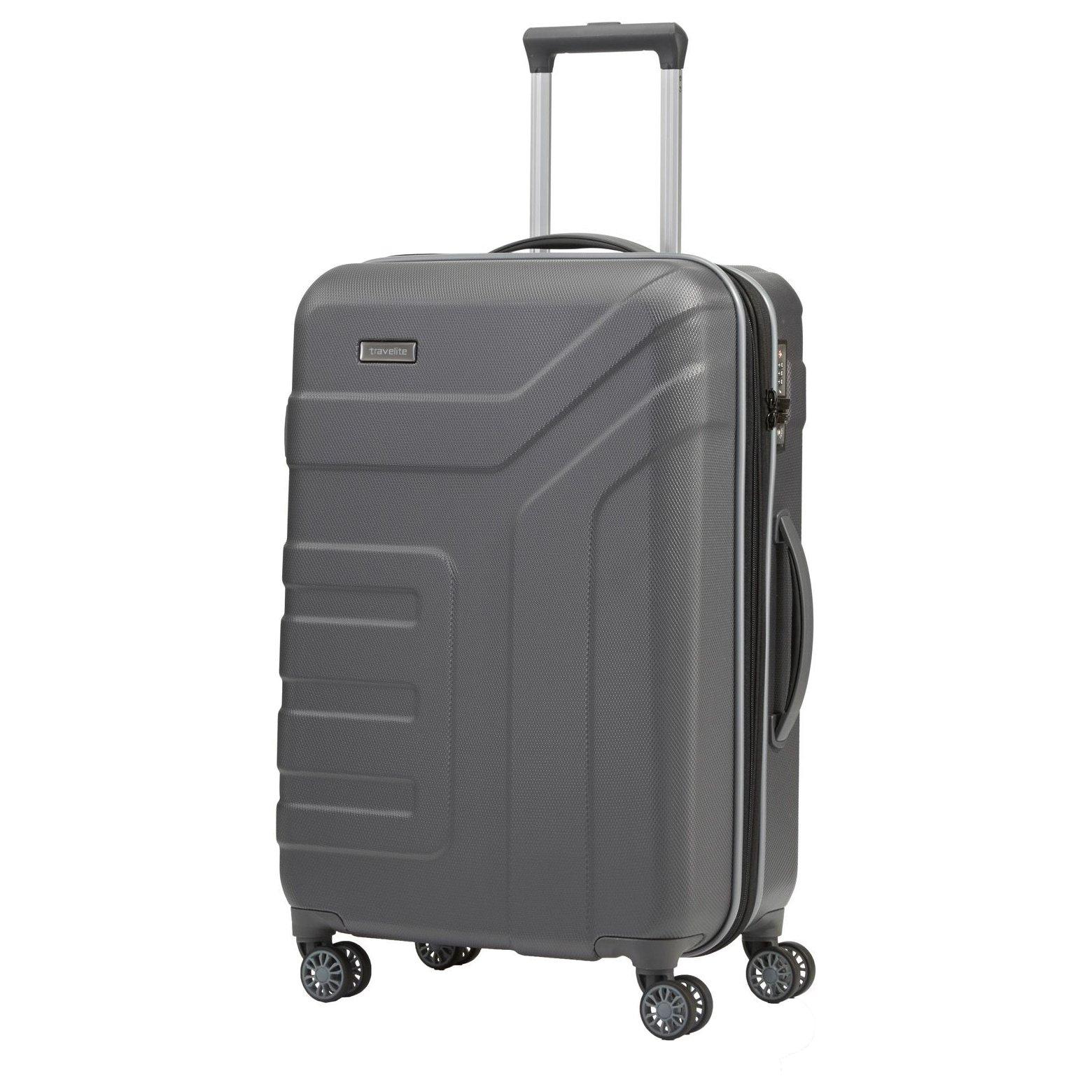 travelite vector 4 rollen trolley m 70 cm erweiterbar kaufen bei markenkoffer. Black Bedroom Furniture Sets. Home Design Ideas
