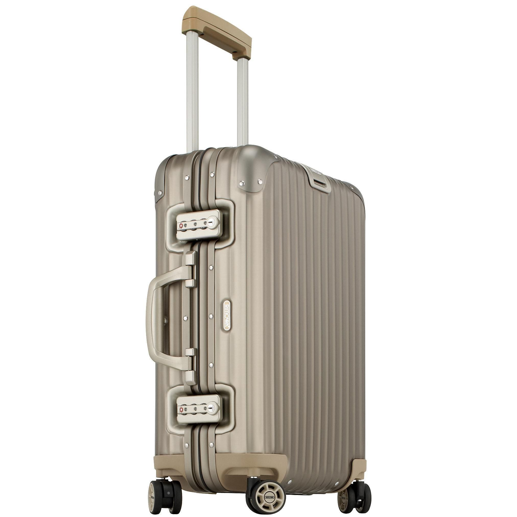 rimowa topas titanium multiwheel cabin trolley iata 52. Black Bedroom Furniture Sets. Home Design Ideas