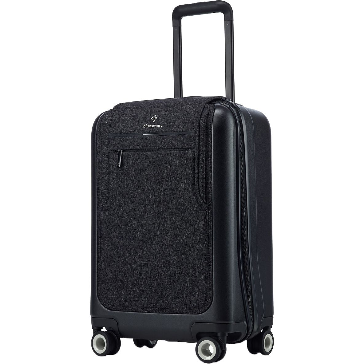 bluesmart black edition 4 rollen kabinentrolley 55 cm smarter koffer mit gps. Black Bedroom Furniture Sets. Home Design Ideas